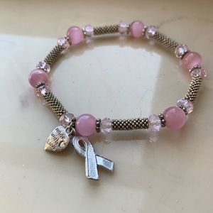 Jewelry - Breast Cancer Awareness Pink Stretchy Bracelet